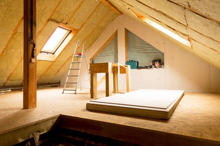 inspecting attic
