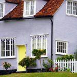 home exterior purple