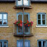 Home exterior flowers