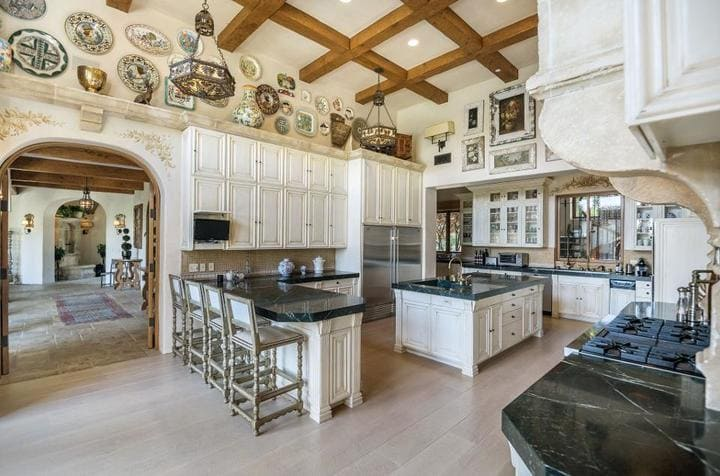 The kitchen inside Sugar Ray Leonard's Los Angeles home