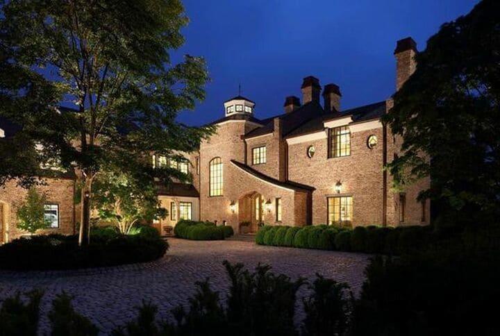 Tom Brady Boston home at night