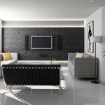 modern smart home living room